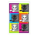 Pop Art Cat Postcards (Package of 8)