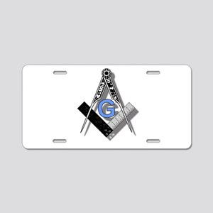 Masonic Square and Compass #2 Aluminum License Pla