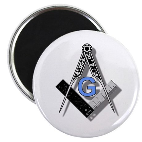 "Masonic Square and Compass #2 2.25"" Magnet (10 pac"