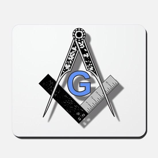 Masonic Square and Compass #2 Mousepad