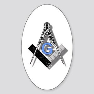 Masonic Square and Compass #2 Sticker (Oval)