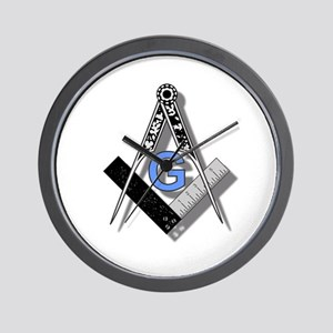 Masonic Square and Compass #2 Wall Clock