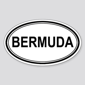 Bermuda Euro Oval Sticker