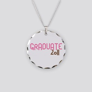 Graduate 2011 (Retro Pink) Necklace Circle Charm