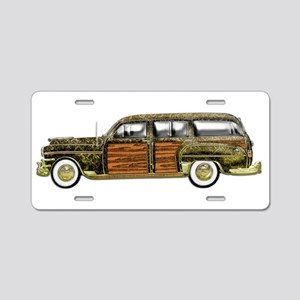 Classic Woody Station wagon Aluminum License Plate