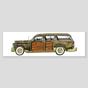 Classic Woody Station wagon Sticker (Bumper)