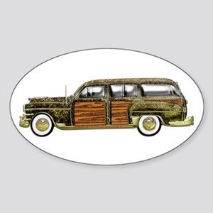 Classic Woody Station wagon Sticker (Oval)