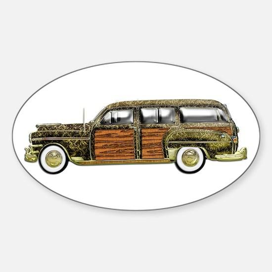 Classic Woody Station wagon Sticker (Oval)