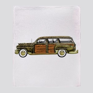 Classic Woody Station wagon Throw Blanket