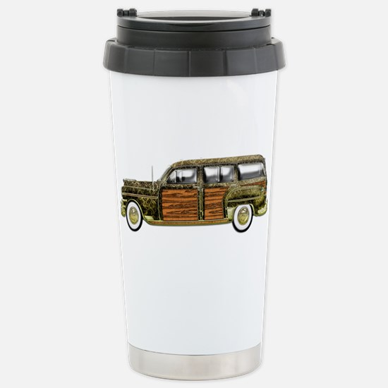 Classic Woody Station wagon Stainless Steel Travel
