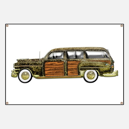 Classic Woody Station wagon Banner