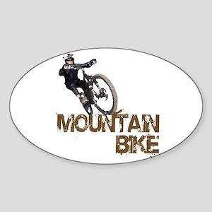 Mountain Bike Sticker (Oval)