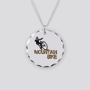 Mountain Bike Necklace Circle Charm