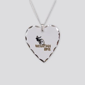 Mountain Bike Necklace Heart Charm