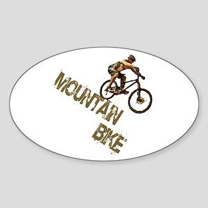 Mountain Bike Downhill Sticker (Oval)