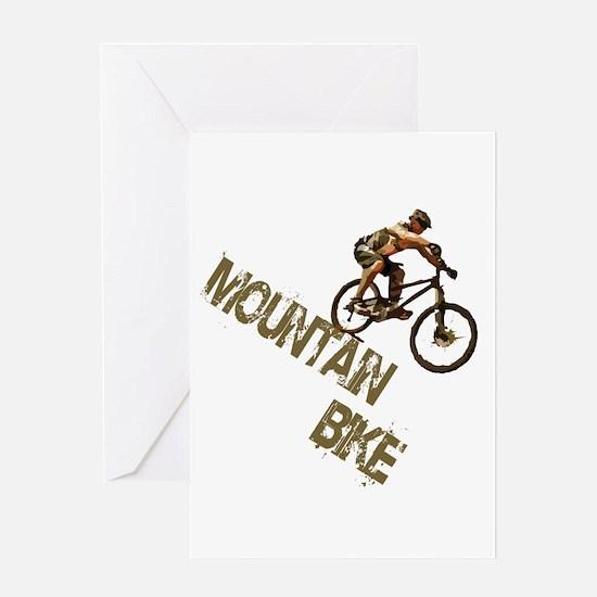Mountain Bike Downhill Greeting Card