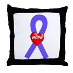 Periwinkle Hope Throw Pillow