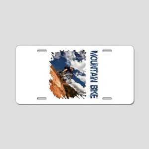 Mountain Bike Blue Sky Aluminum License Plate
