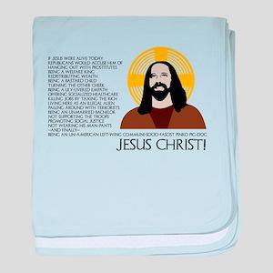 Un-American Jesus baby blanket