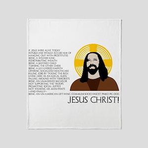 Un-American Jesus Throw Blanket