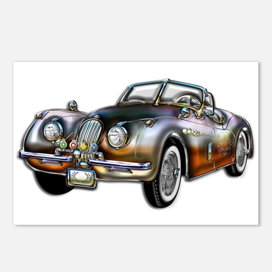 Convertible Classic Metallic Postcards (Package of