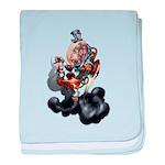 Steampunk Space-Chimp baby blanket