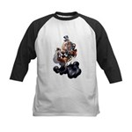 Steampunk Space-Chimp Kids Baseball Jersey