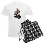 Steampunk Space-Chimp Men's Light Pajamas