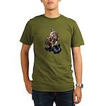 Steampunk Space-Chimp Organic Men's T-Shirt (dark)