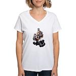 Steampunk Space-Chimp Women's V-Neck T-Shirt