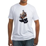 Steampunk Space-Chimp Fitted T-Shirt