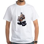 Steampunk Space-Chimp White T-Shirt