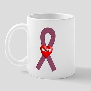 Burgundy Hope Mug