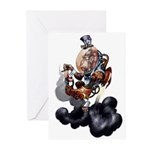 Steampunk Space-Chimp Greeting Cards (Pk of 10)