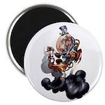 Steampunk Space-Chimp Magnet