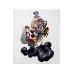 Steampunk Space-Chimp Throw Blanket