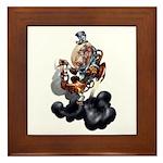 Steampunk Space-Chimp Framed Tile