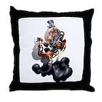 Steampunk Space-Chimp Throw Pillow