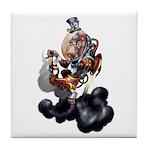 Steampunk Space-Chimp Tile Coaster