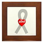 Gray Hope Framed Tile