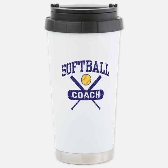 Softball Coach Stainless Steel Travel Mug