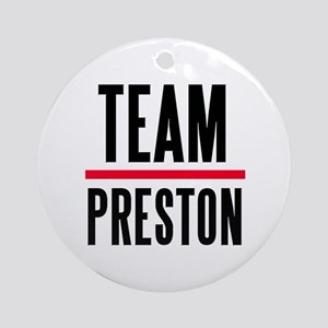 Team Preston Grey's Anatomy Ornament (Round)