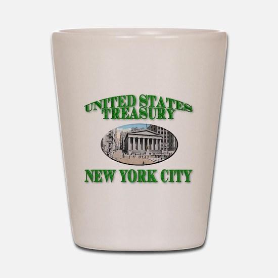 U S Treasury New York City Shot Glass