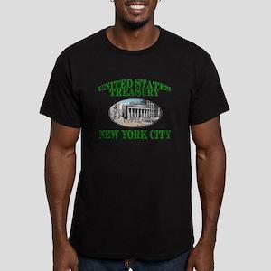 U S Treasury New York City Men's Fitted T-Shirt (d
