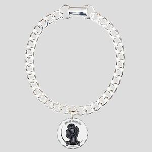 Black Standard Poodle IAAM Charm Bracelet, One Cha
