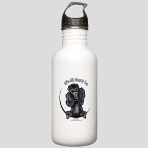 Black Standard Poodle IAAM Stainless Water Bottle