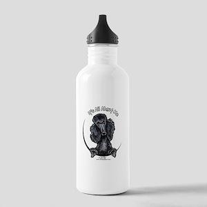 Black Standard Poodle IAAM Stainless Water Bottle