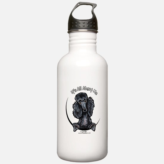 Black Standard Poodle IAAM Water Bottle