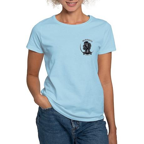 Black Standard Poodle IAAM Pocket Women's Light T-