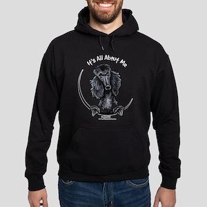 Black Standard Poodle IAAM Hoodie (dark)